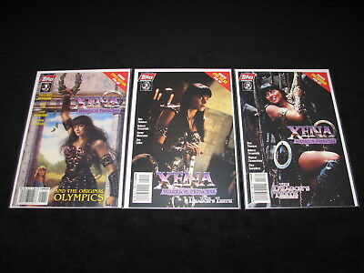 XENA Warrior Princess And the Orginial OLYMPICS LOT /1 of 3 - 2 of 3 - 3 of 3