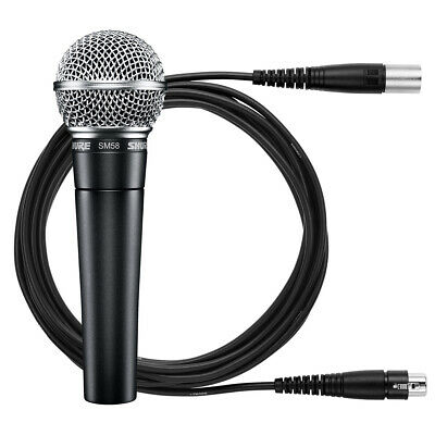 Shure SM58 Handheld Dynamic Vocal Microphone with Cable