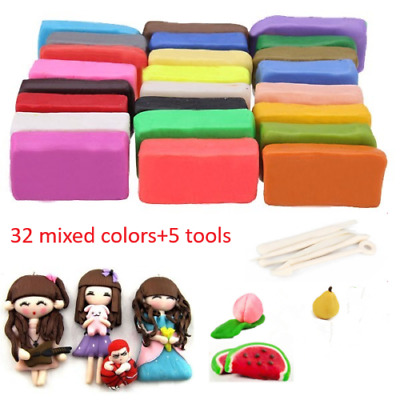 32 Mixed Color Set Oven Bake Polymer Soft Clay Modelling Moulding DIY Toys Gifts