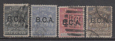 BRITISH CENTRAL AFRICA 1891-95 Arms to 1/- used (4) CV £83