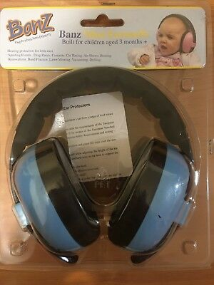 Baby Banz Mini Earmuffs Built For Children Aged 3 Months +. Free Shipping.