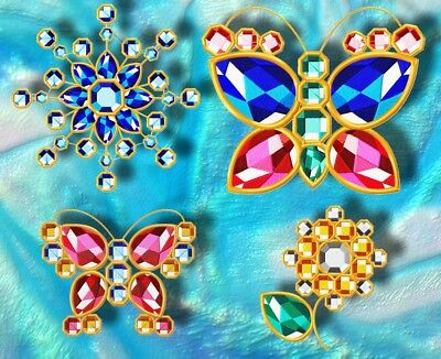 A Touch Of Crystal 10 Machine Embroidery Designs Cd 4 Sizes Included