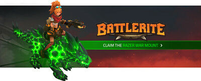 Razer Warhound Exclusive Rare Mount for Battlerite