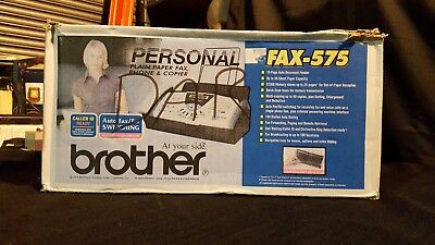 NEW Brother Personal Plain Paper Fax, Phone, & Copier | Model: FAX-575