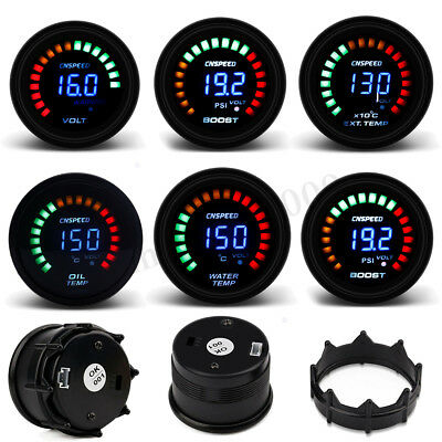 "2"" 52mm Car Digital PSI Turbo Boost/Water/Oil Temp/Pressure/Tachometer/EGT Gauge"