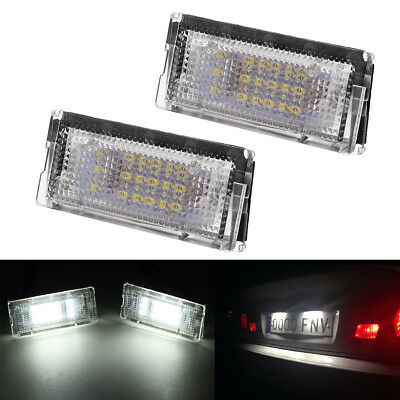 2x 18LED License Plate Number Lights For BMW E46 98-05 51138236269 51138236854