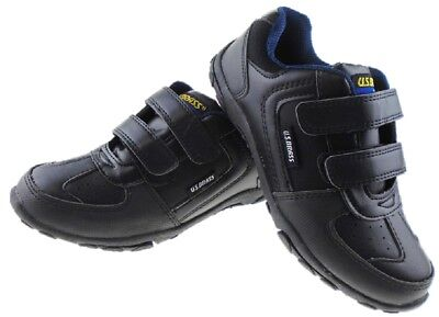 Boys Back to School Shoes Trainers Formal Casual Touch Strap Sizes UK 12 - 5