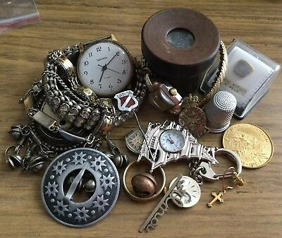 Mixed Lot Of Antique/vintage Jewellery,watches Etc