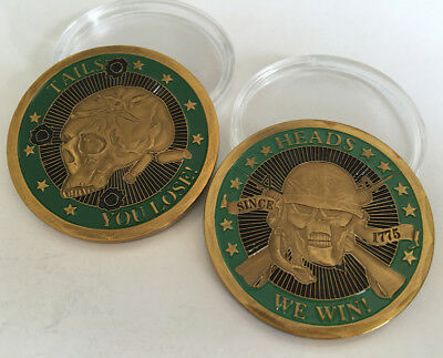 HEADS WE WIN TAILS YOU LOSE Collection coin Commemorative Souvenir Coins Badge