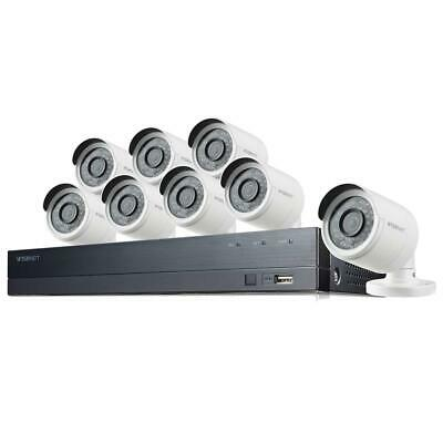 Samsung Wisenet SDH-C75083 16-Channel FHD 2TB NVR with 8x 2MP Bullet Cameras