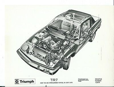 Triumph TR7  Ghost Drawing Cut Through 1975 Photograph Negative Number 253871