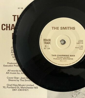 """The Smiths -This Charming Man- Rare Export 7""""/Solid Centre/Glad Hips Sleeve"""