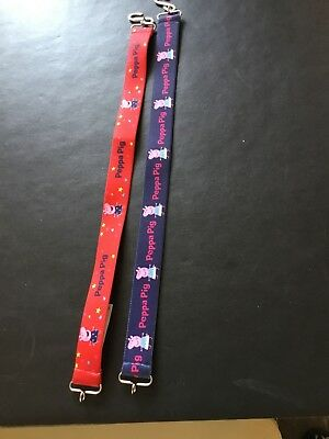 Two M&S Pepper Pig Elasticated Belts Age 4-6 Yrs