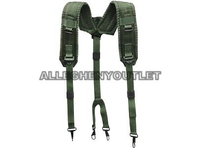US Military Y SUSPENDERS Alice LBE Load Bearing Shoulder Web Harness OD NEW