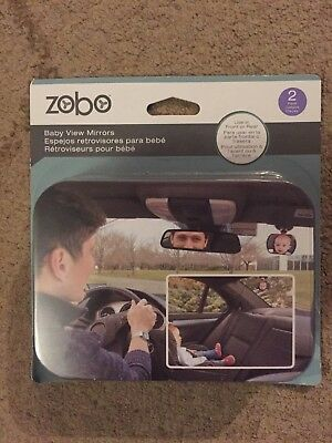 Zobo Backseat Baby Mirror 2 pack NEW