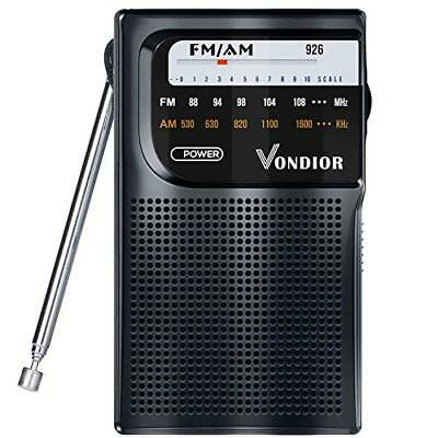 AM/FM Battery Operated Portable Pocket Radio - Best Reception and Longest AM FM