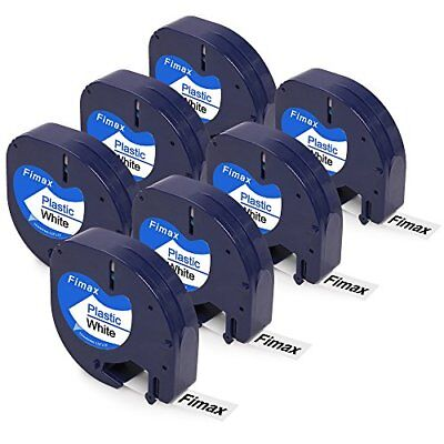 Compatible LetraTag 91331 12mm Label Tape, 7 Pack for Dymo LetraTag 91331 91201
