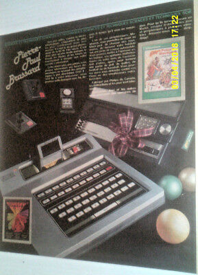 1982 ODYSSEY by MAGNAVOX & INTELLIVISION COMPUTERS ORIGINAL AD IN FRENCH
