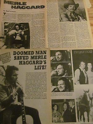 Merle Haggard, Lot of TWO Vintage Clippings