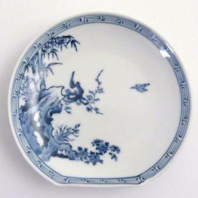 Japanese Blue And White Arita Porcelain Plate, Meiji Period, Signed