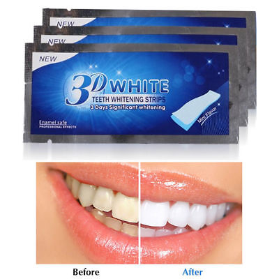 14x/set New 3D Teeth Whitening Strips White Whitestrips Effect Oral Hygiene Care