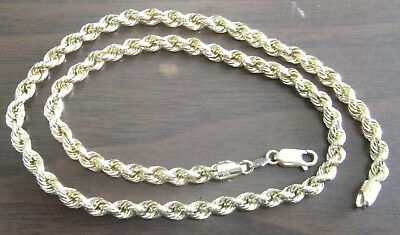14K YELLOW GOLD ROPE CHAIN NECKLACE 10.3 GRAMS 20 inches Not Scrap