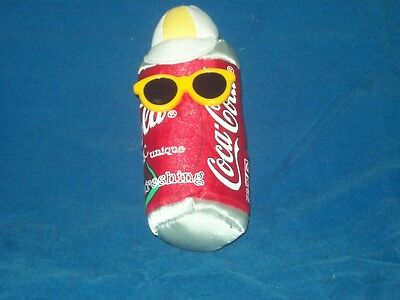 Vintage Coca Cola Coke Can Bean Bag doll w/Glasses & Tag Attached 1998