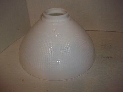 """Vintage Corning Milk Glass Diffuser Torchiere Waffle Lamp Shade 5.5"""" x 10"""" diam"""