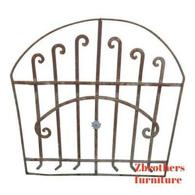 Antique Victorian Iron Gate Window Garden Fence Architectural Salvage Door #153