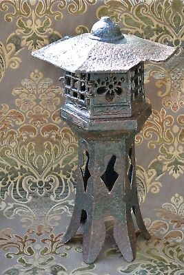 Japanese Antique Cast Iron Garden/ Temple Lantern -Toro- Marked  NR!!