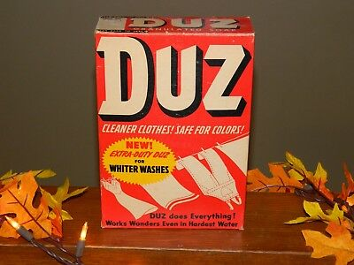 Duz Soap Ad & 20 3/4 Oz. Unopened Box From 1950's