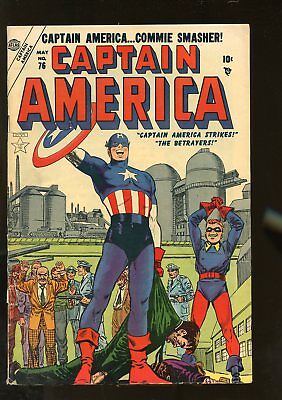 Captain America Comics #76 Very Good 4.0 (Vg) 1954 Atlas