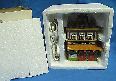 Vintage 1989 Dept 56 Dickens Village Theater Royal With Light & Box