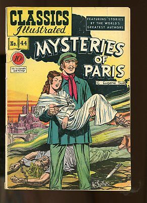 Classic Illustrated #44 Fair / Good 1.5 (Fr/gd) 1947 Mysteries Of Paris Hrn 44