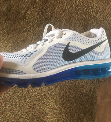 0d6f4f64ff0b NIKE AIR MAX 2014 white blue black 621077-104 Running Men s Shoes SIZE 11.5