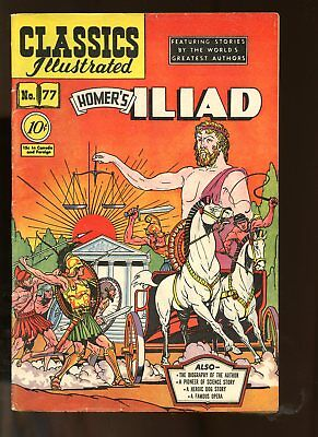 Classic Illustrated #77 Very Good 4.0 (Vg) 1950 Homer's Iliad Hrn 77