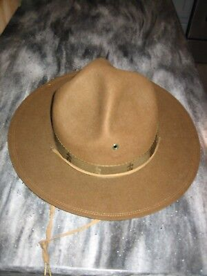 Boy Scouts of America Vintage Campaign Hat, 7 1/4, Wool