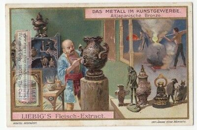 Ancient Japanese Japon Bronze Metal  Artist Antico Giappone 1905 Trade Ad  Card