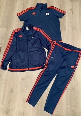 first look detailed look official ADIDAS TIRO 15 Trainingsanzug Gr.L + Poloshirt Gr.XL, blau ...