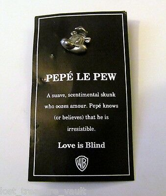 Warner Brothers Pepe Le Pew Silver Metal Pin Jewelry