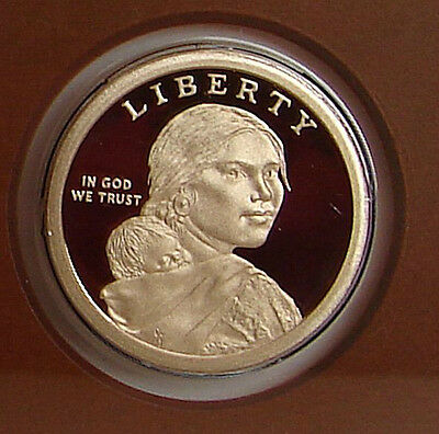 2014 S PROOF NATIVE AMERICAN SACAGAWEA DOLLAR - GEM CAMEO GOLDEN DOLLAR b1