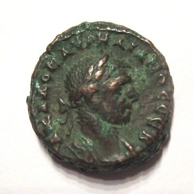 Ae-Tetradrachm of Aurelianus        Rv. eagle standing left