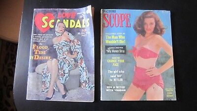 Love Scandals 1950 Issue #4 Comic Magazines Picture Scope Men's Mag 1953
