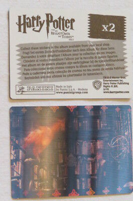 HARRY POTTER AND THE DEATHLY HALLOWS 1 Sammelkarte panini CARD lenticular X2