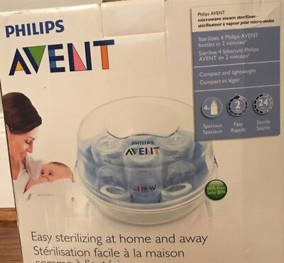 Avent Microwave Steam Bottle Sterilizer Baby BPA Free