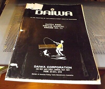 DAIWA REEL REPAIR PARTS Service Manual #71 40 pages w/schematics on