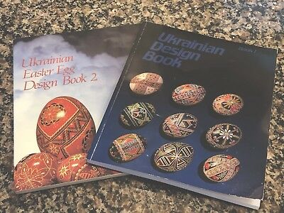 Ukrainian Easter Egg Design Book #1 And 2 by Natalie Perchyshy. Pysanky.