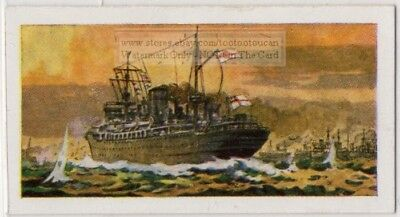 """1940 HMS """"Jervis Bay"""" Converted Armed Merchant Cruiser Vintage Trade Ad Card"""