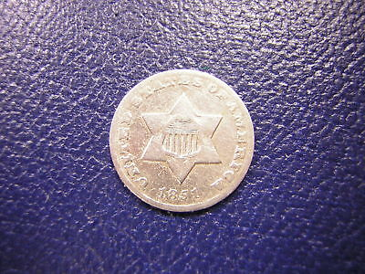 1851-o U.S.(3) Three Cent Silver (Trime) / Good
