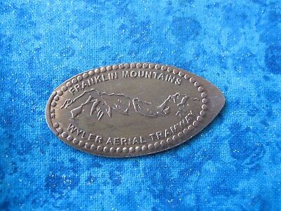 FRANKLIN MOUNTAINS TEXAS COPPER Elongated Penny Pressed Smashed 21